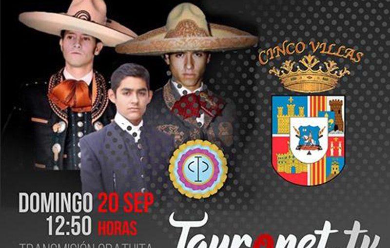 """Tres Toreros De Aguascalientes En """"Cinco Villas"""" El 20 De Septiembre"""