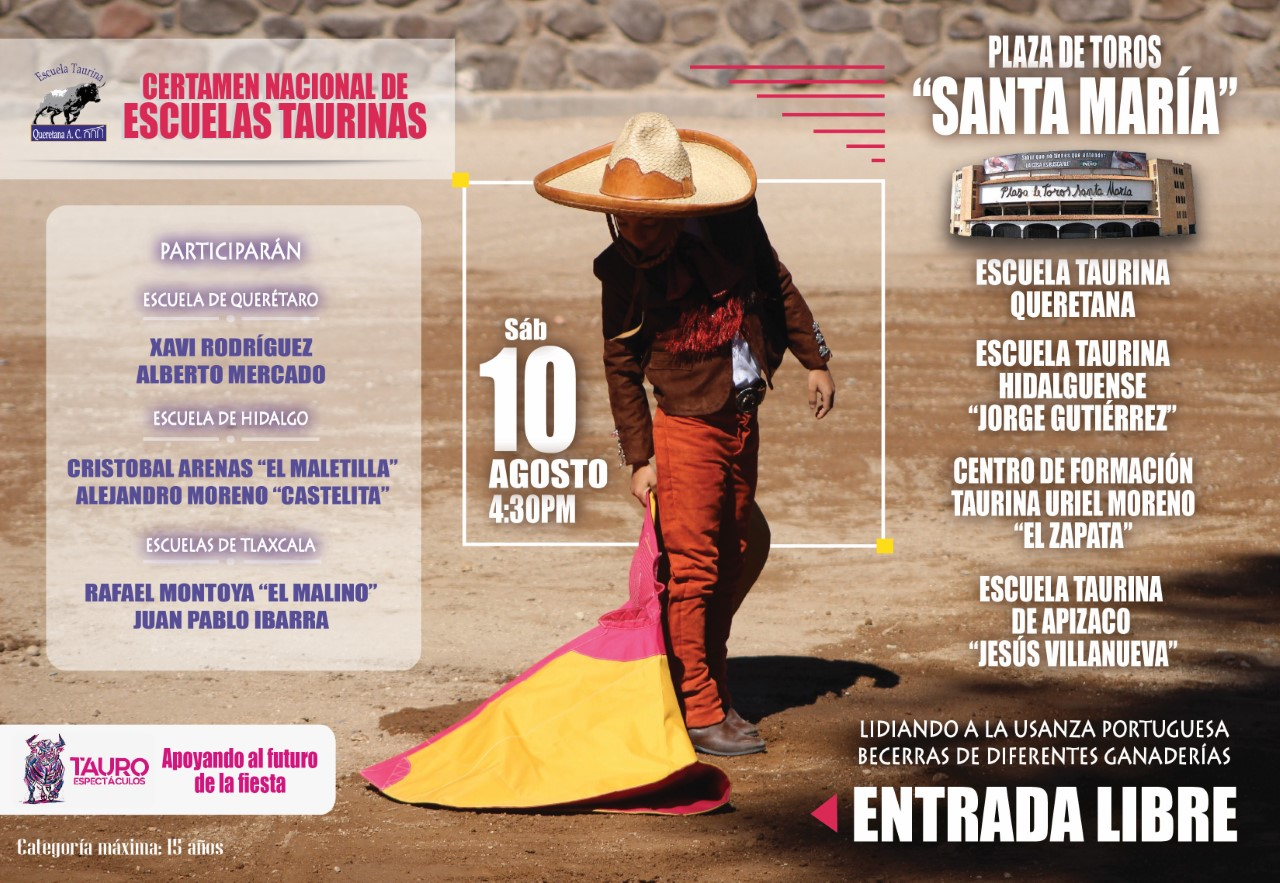 Certamen Nacional de Escuelas Taurinas en Querétaro